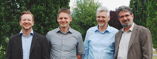 Leitungsteam der Werkstatt für Gemeindeaufbau, von links: Dominik Sikinger, Christoph Stumpp, Michael Winkler, Gerhard Podrasa